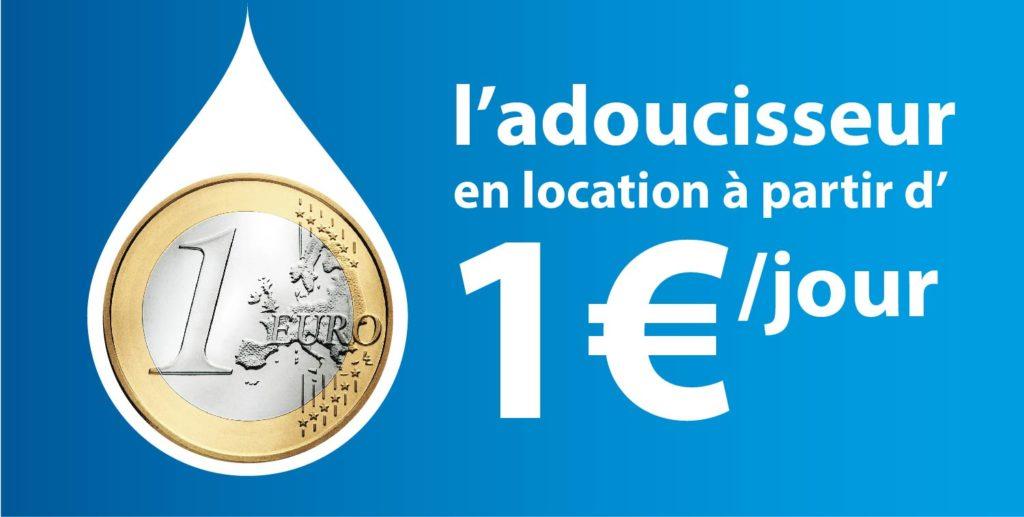Location d'adoucisseur à partir d'un euro par jour.